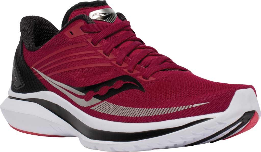 Women's Saucony Kinvara 12 Running Sneaker, Cherry/Silver, large, image 1