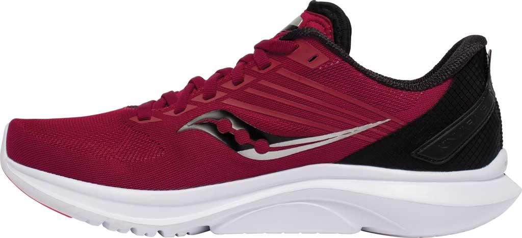 Women's Saucony Kinvara 12 Running Sneaker, Cherry/Silver, large, image 3