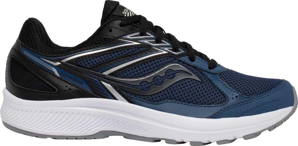 Men's Saucony Cohesion 14 Running Sneaker, Blue/Black, large, image 2
