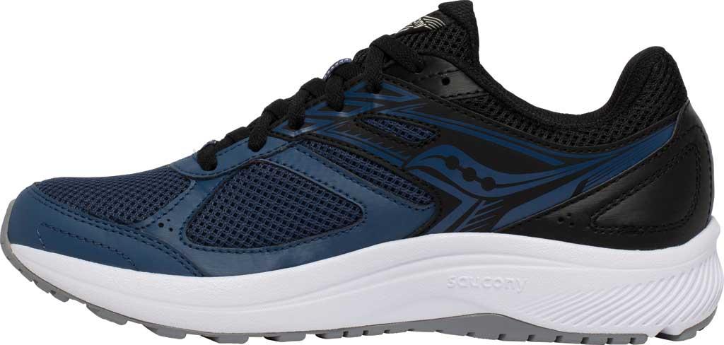 Men's Saucony Cohesion 14 Running Sneaker, Blue/Black, large, image 3