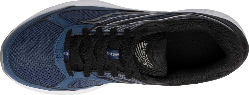 Men's Saucony Cohesion 14 Running Sneaker, Blue/Black, large, image 4