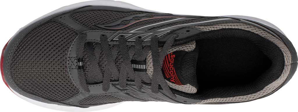Men's Saucony Cohesion 14 Running Sneaker, Charcoal/Red, large, image 4