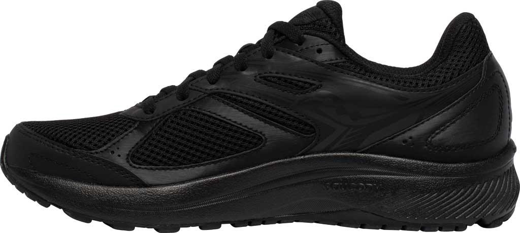Men's Saucony Cohesion 14 Running Sneaker, Black/Black, large, image 3