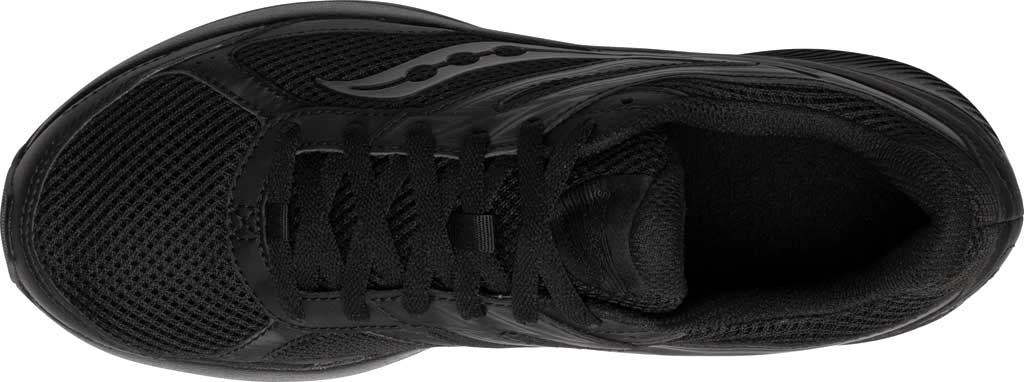 Men's Saucony Cohesion 14 Running Sneaker, Black/Black, large, image 4