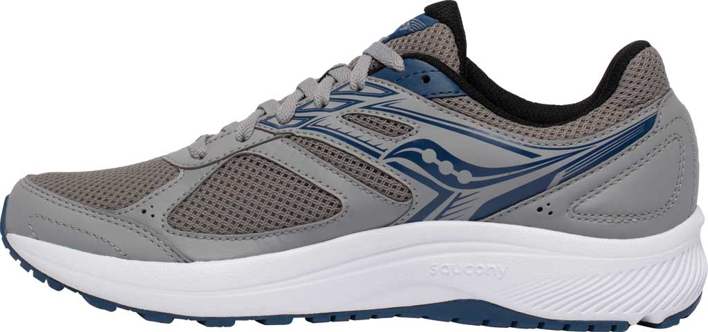 Men's Saucony Cohesion 14 Running Sneaker, Grey/Blue, large, image 3