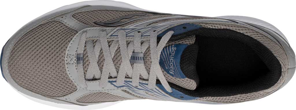 Men's Saucony Cohesion 14 Running Sneaker, Grey/Blue, large, image 4