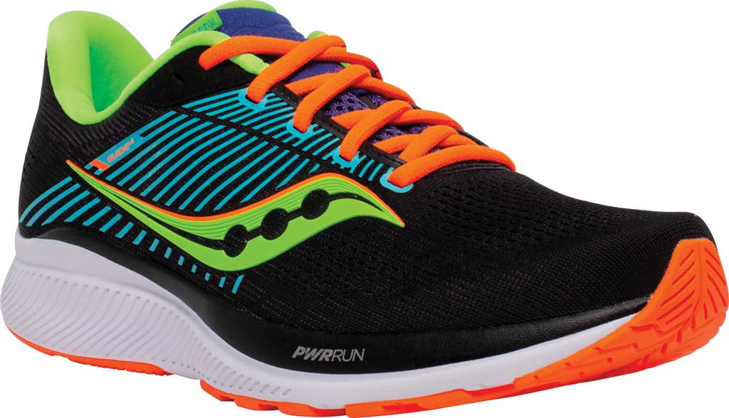 Men's Saucony Guide 14 Running Sneaker, Future/Black, large, image 1
