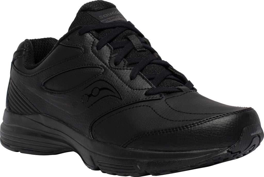 Men's Saucony Integrity Walker 3 Sneaker, Black, large, image 1