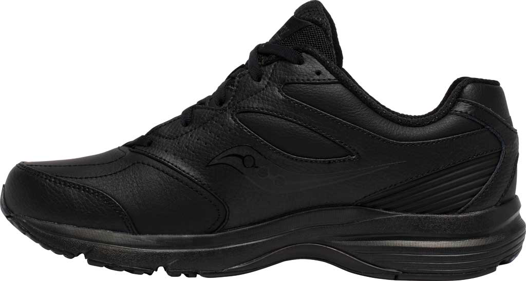 Men's Saucony Integrity Walker 3 Sneaker, Black, large, image 3