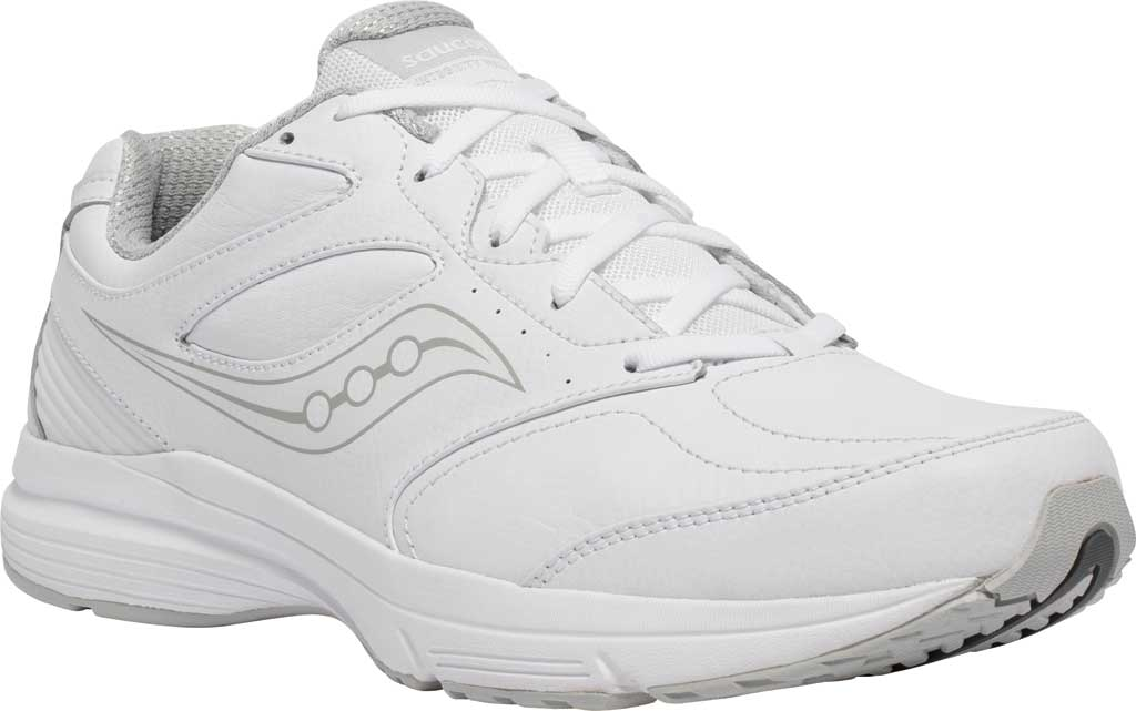 Men's Saucony Integrity Walker 3 Sneaker, White, large, image 1