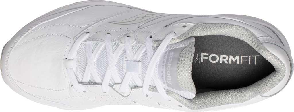 Men's Saucony Integrity Walker 3 Sneaker, White, large, image 4