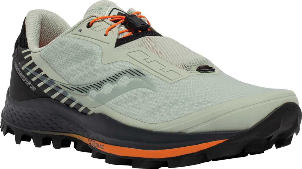 Men's Saucony Peregrine 11 ST Trail Running Sneaker, Tide/Black, large, image 1