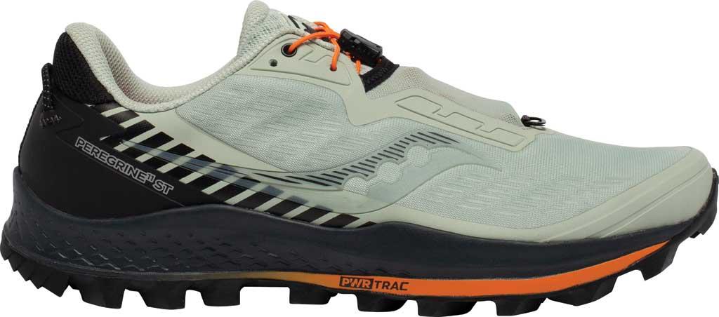 Men's Saucony Peregrine 11 ST Trail Running Sneaker, Tide/Black, large, image 2