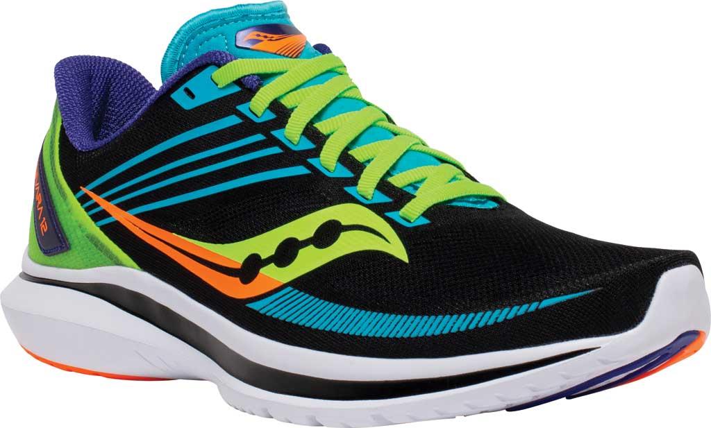 Men's Saucony Kinvara 12 Running Sneaker, Future/Black, large, image 1