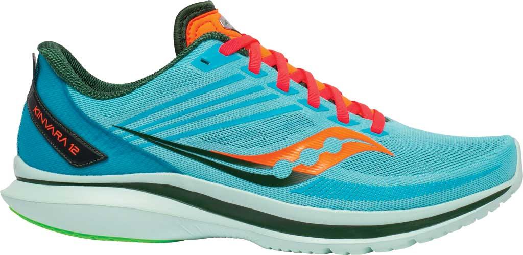 Men's Saucony Kinvara 12 Running Sneaker, Future/Blue, large, image 2
