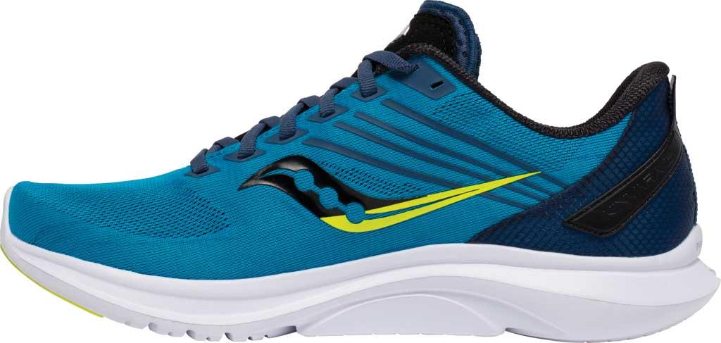 Men's Saucony Kinvara 12 Running Sneaker, Cobalt/Citrus, large, image 3