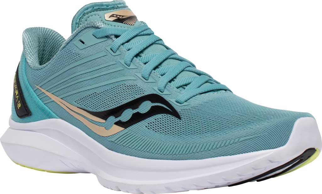 Men's Saucony Kinvara 12 Running Sneaker, Tide/Keylime, large, image 1