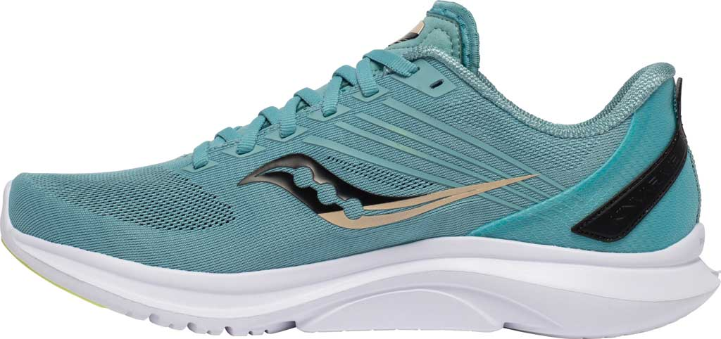 Men's Saucony Kinvara 12 Running Sneaker, Tide/Keylime, large, image 3
