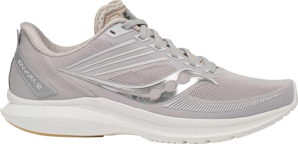 Men's Saucony Kinvara 12 Running Sneaker, New Natural, large, image 2
