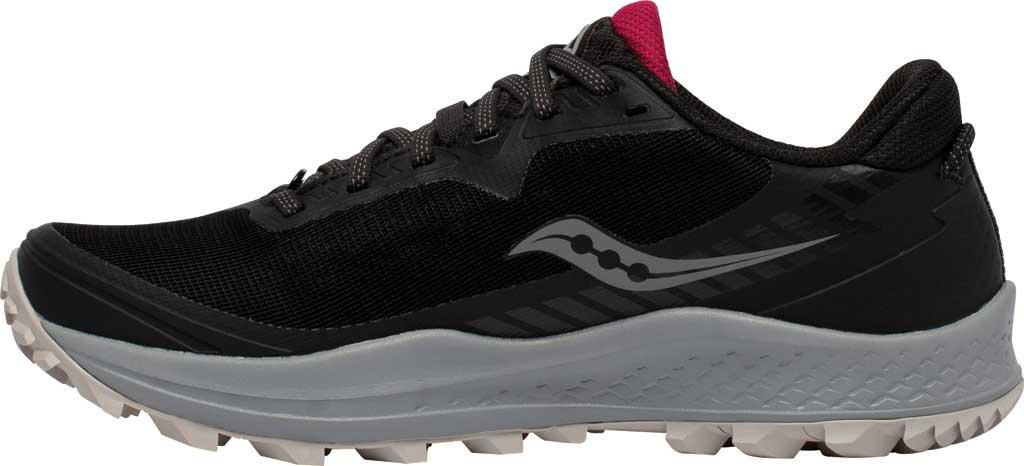 Women's Saucony Peregrine 11 GORE-TEX Running Sneaker, Black/Cherry, large, image 3