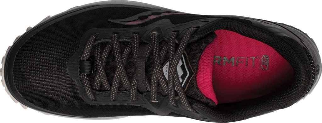 Women's Saucony Peregrine 11 GORE-TEX Running Sneaker, Black/Cherry, large, image 4