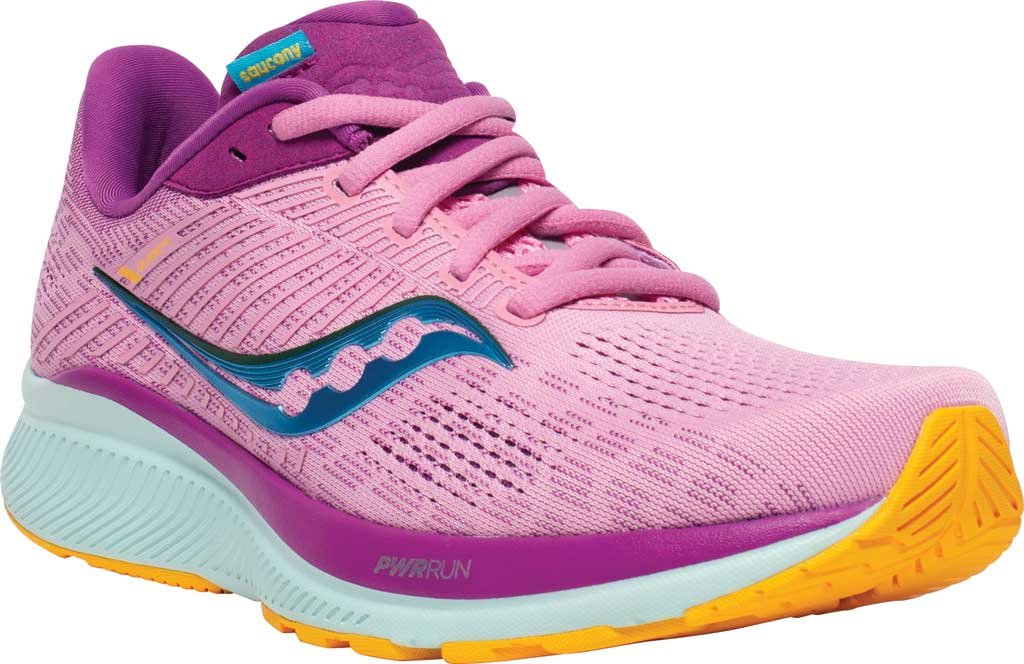 Women's Saucony Guide 14 Running Sneaker, Future/Pink, large, image 1