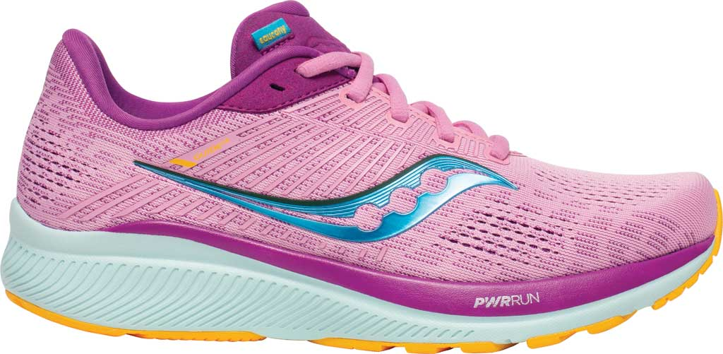 Women's Saucony Guide 14 Running Sneaker, Future/Pink, large, image 2