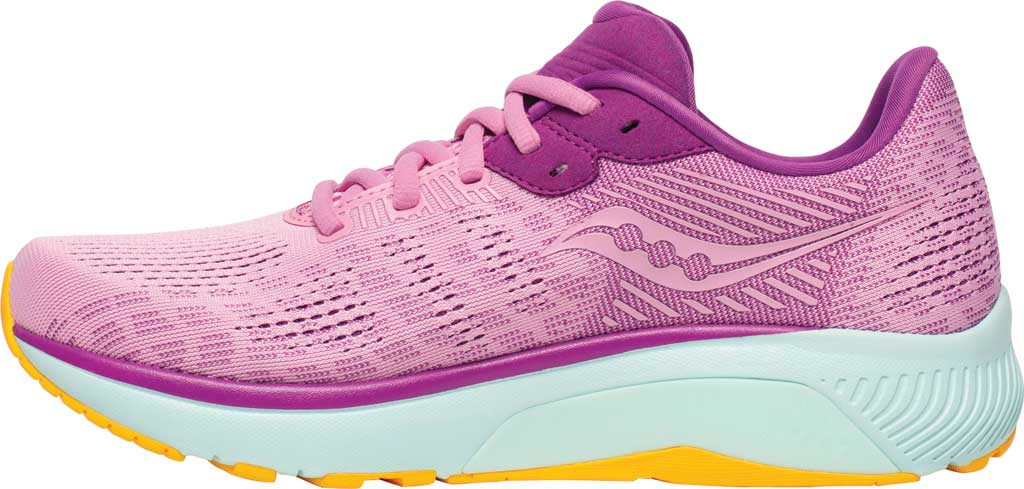 Women's Saucony Guide 14 Running Sneaker, Future/Pink, large, image 3