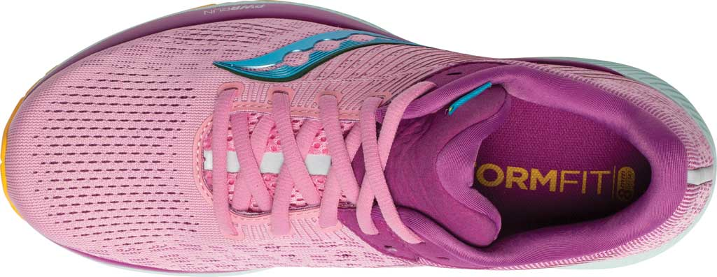 Women's Saucony Guide 14 Running Sneaker, Future/Pink, large, image 4
