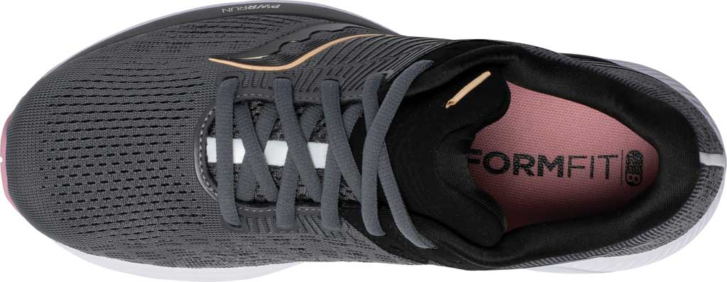 Women's Saucony Guide 14 Running Sneaker, Charcoal/Rose, large, image 4