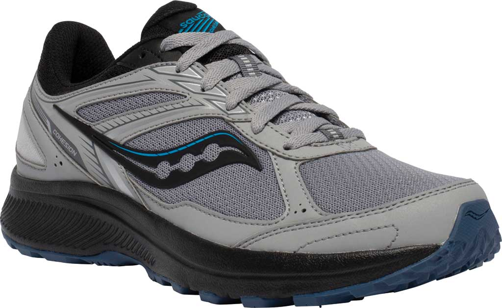 Men's Saucony Cohesion TR14 Trail Running Sneaker, Alloy/Cobalt, large, image 1