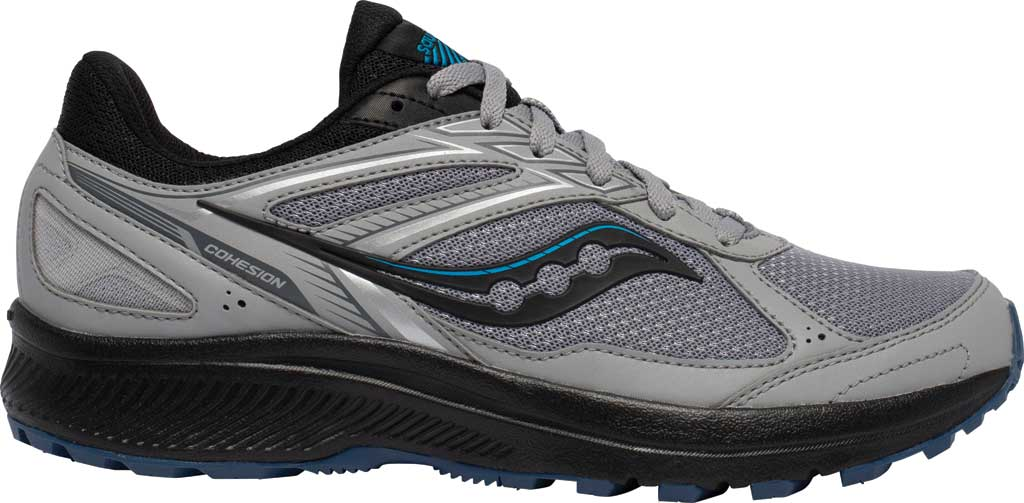 Men's Saucony Cohesion TR14 Trail Running Sneaker, Alloy/Cobalt, large, image 2