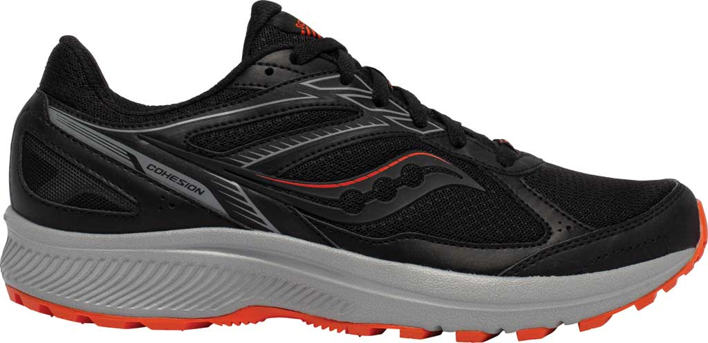 Men's Saucony Cohesion TR14 Trail Running Sneaker, Black/Tomato, large, image 2