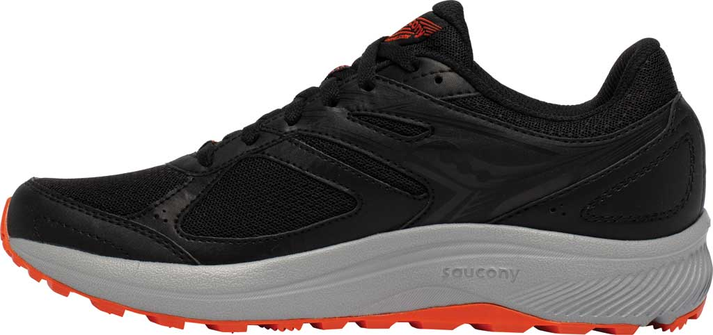 Men's Saucony Cohesion TR14 Trail Running Sneaker, Black/Tomato, large, image 3