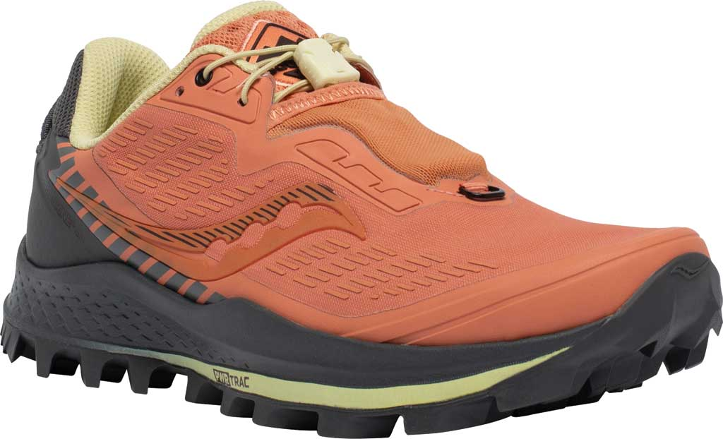 Women's Saucony Peregrine 11 ST Trail Running Sneaker, Rust/Charcoal, large, image 1