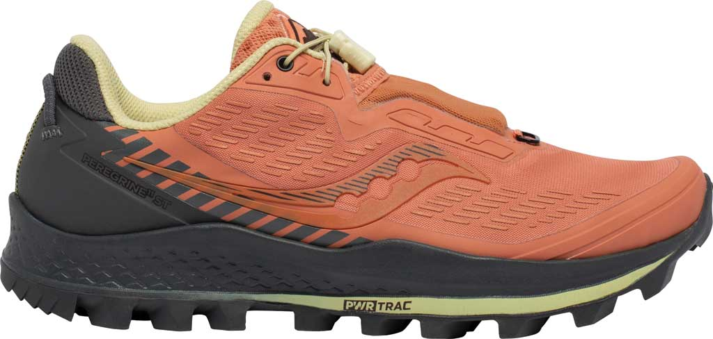 Women's Saucony Peregrine 11 ST Trail Running Sneaker, Rust/Charcoal, large, image 2