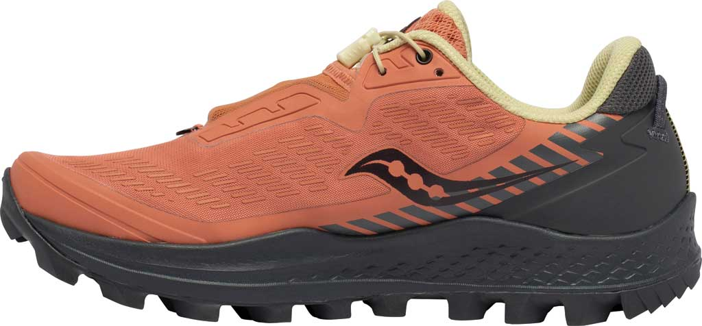Women's Saucony Peregrine 11 ST Trail Running Sneaker, Rust/Charcoal, large, image 3