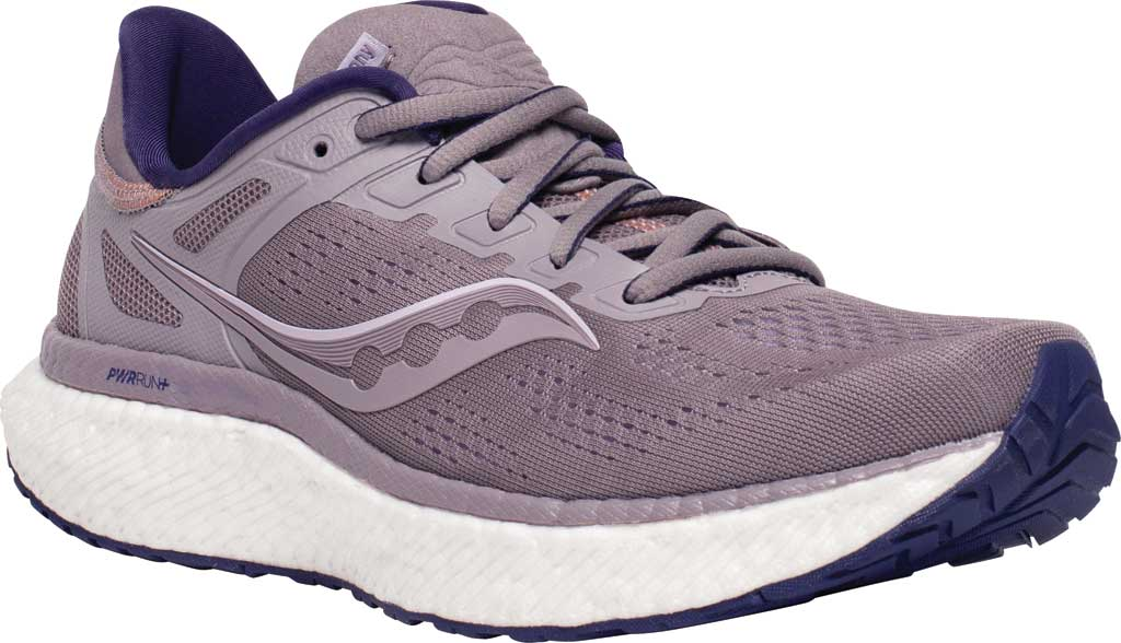 Women's Saucony Hurricane 23 Running Sneaker, Zinc/Midnight, large, image 1