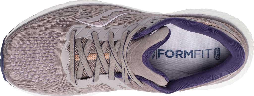 Women's Saucony Hurricane 23 Running Sneaker, Zinc/Midnight, large, image 4
