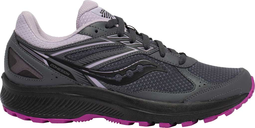 Women's Saucony Cohesion TR14 Trail Running Sneaker, Charcoal/Lilac, large, image 2