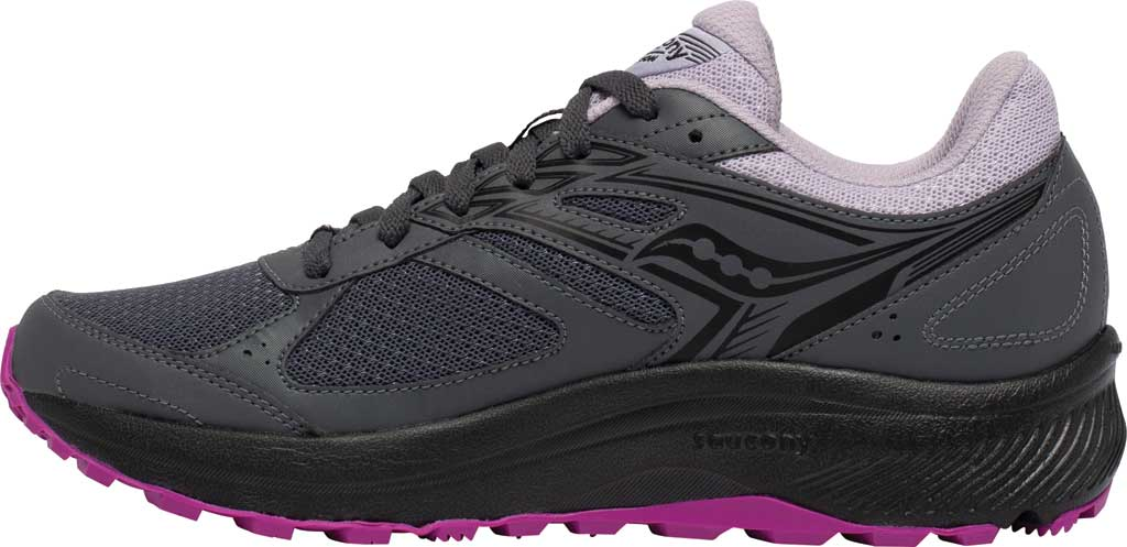 Women's Saucony Cohesion TR14 Trail Running Sneaker, Charcoal/Lilac, large, image 3