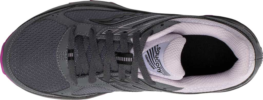 Women's Saucony Cohesion TR14 Trail Running Sneaker, Charcoal/Lilac, large, image 4