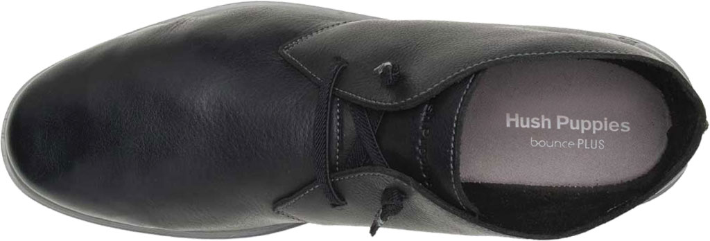Men's Hush Puppies The Everyday Chukka Boot, Black Leather, large, image 4