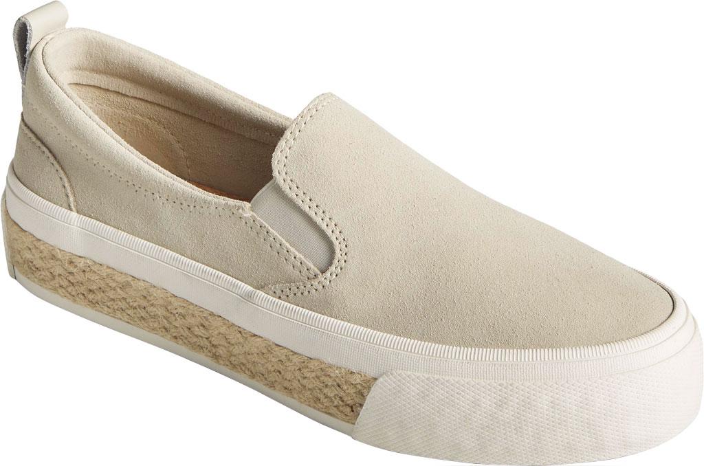 Women's Sperry Top-Sider Crest Twin Gore Platform Resort Slip On Sneaker, Bone White Leather, large, image 1