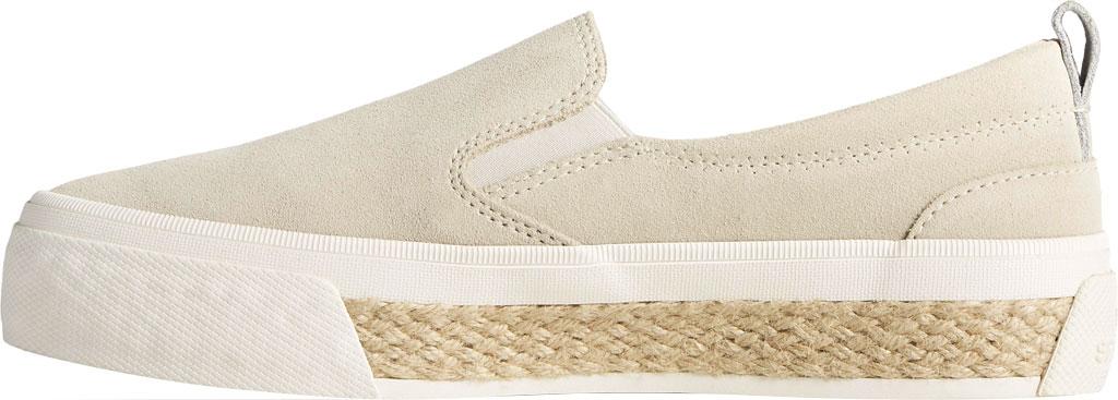 Women's Sperry Top-Sider Crest Twin Gore Platform Resort Slip On Sneaker, Bone White Leather, large, image 3