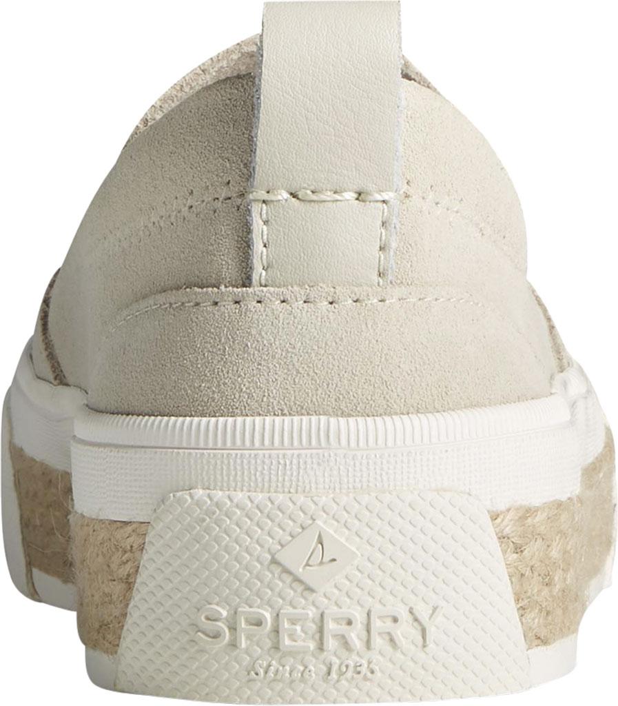 Women's Sperry Top-Sider Crest Twin Gore Platform Resort Slip On Sneaker, Bone White Leather, large, image 4