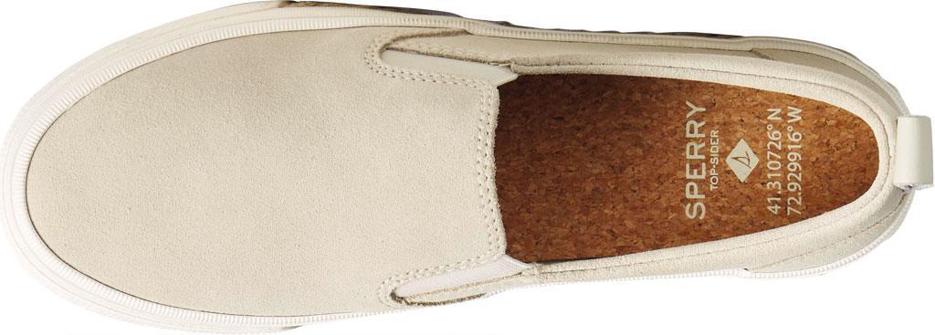 Women's Sperry Top-Sider Crest Twin Gore Platform Resort Slip On Sneaker, Bone White Leather, large, image 5