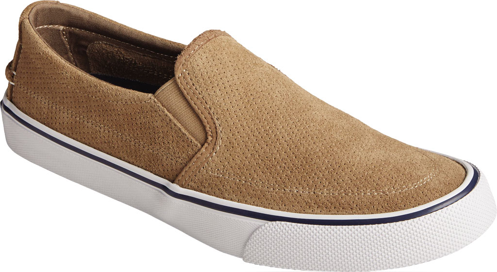 Men's Sperry Top-Sider Striper II Twin Gore Perforated Sneaker, Taupe Perforated Suede, large, image 1
