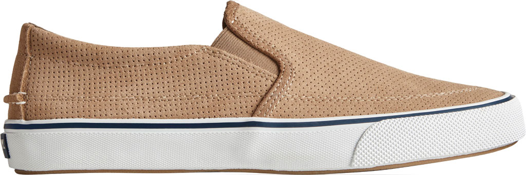 Men's Sperry Top-Sider Striper II Twin Gore Perforated Sneaker, Taupe Perforated Suede, large, image 2