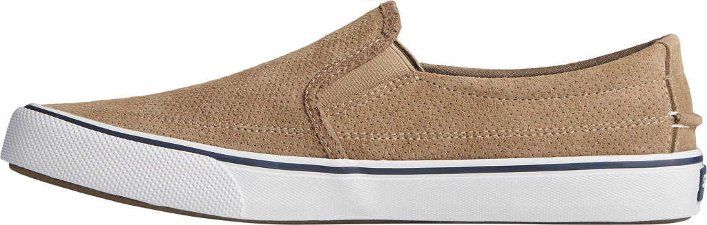 Men's Sperry Top-Sider Striper II Twin Gore Perforated Sneaker, Taupe Perforated Suede, large, image 3